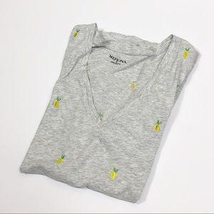Merona (Target) Lemon Pattern Tee Shirt